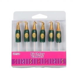 Pack 6 Velas Champagne
