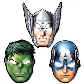 Pack 8 máscaras Los Vengadores