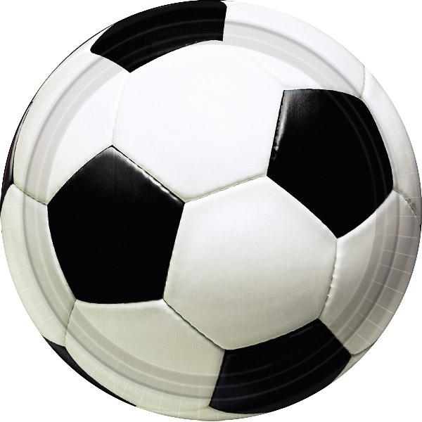Pack 8 platos Balón de Fútbol 22,8cm - Miles de Fiestas