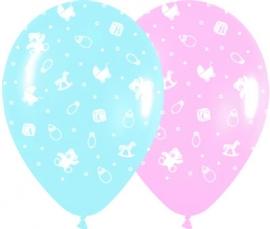 Pack de 10 globos colores pastel Bebé
