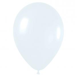 Pack de 100 globos blanco mate 12,5 cm