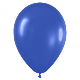 Pack de 100 globos color Azul Real Mate 12cm