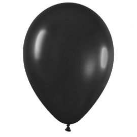 Pack de 100 globos color Negro Mate 12cm