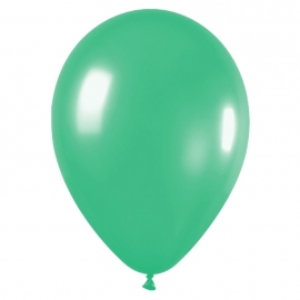Pack de 100 globos color Verde Mate 12cm
