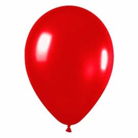 Pack de 100 Globos Rojo Metalizado 12cm