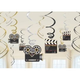 Pack de 12 decoraciones colgantes Hollywood