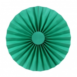 Pack de 2 abanicos color turquesa 25cm