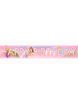 Pack de 3 Banderines Happy Birthday Princesas Disney
