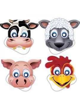 Pack de 4 Máscaras Animales de Granja