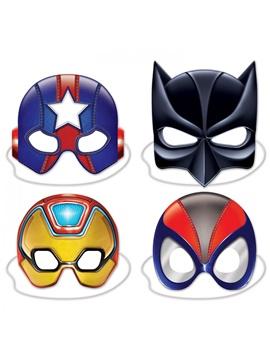 Set de 4 Máscaras Superhéores Deluxe