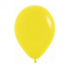 Pack de 50 Globos Amarillo Mate 22 cm