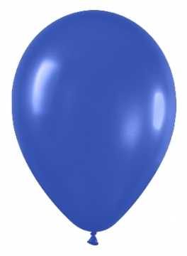 Pack de 50 globos azul real mate