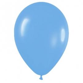 Pack de 50 globos de látex azul mate
