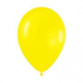 Pack de 50 Globos de Látex Amarillo Mate