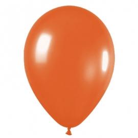 Pack de 50 Globos de Látex Naranja Metalizado