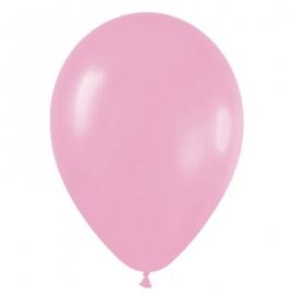 Pack de 50 globos de látex rosa mate