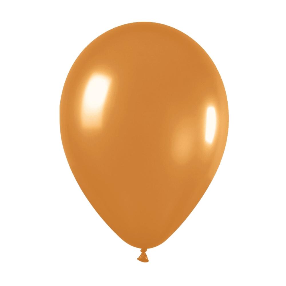 Pack de 50 globos dorado metalizado