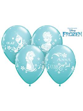 Set de 6 Globos Personajes Frozen 30 cm