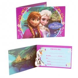 Pack de 6 invitaciones de cumpleaños Frozen - Miles de Fiestas