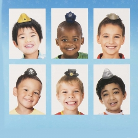 Pack de 6 mini Sombreros de Fiesta Niños