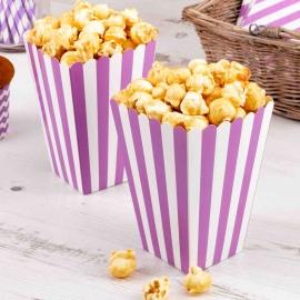 Pack de 8 cajas para Palomitas blancas y lilas