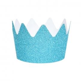 Pack de 8 Coronas de Purpurina Azules