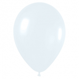 Pack de 8 globos blanco mate