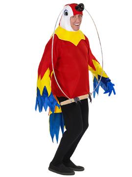 Disfraz de Papagayo sobre un Columpio