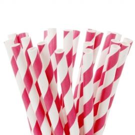 Pajitas Hot Pink para cake pops y bebidas