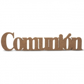Palabra Decorativa de Madera Comunión 50 cm