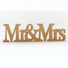 Palabra Decorativa de Madera Mr & Mrs 50 cm