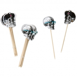 Palitos para dulces y canapés Esqueleto (24 uds)