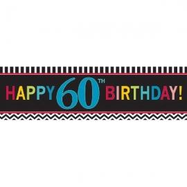 Pancarta 60 Cumpleaños