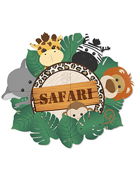 Panel Decorativo Safari 1,50 m