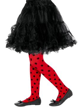 Pantys negros y rojos