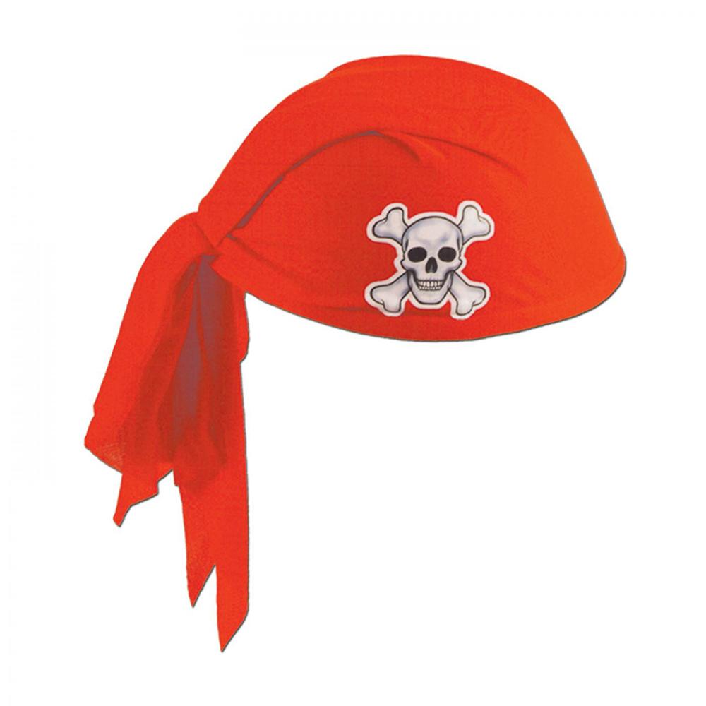 Sombrero Bandana Pirata Rojo