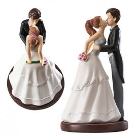 Figura para tarta pareja de boda beso 15 cm