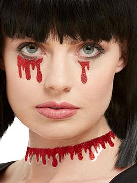 Pegatinas para Rostro y Cuerpo Gotas Sangre