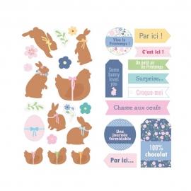 Set de Pegatinas Conejo de Pascua