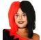 Peluca Arlequín Roja y Negra
