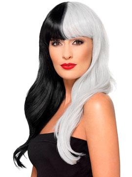 Peluca Deluxe Blanco y Negro