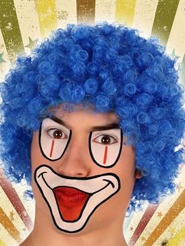 Peluca Payaso Azul