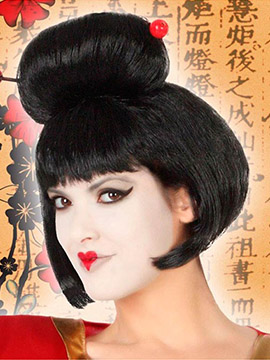 Peluca Negra Geisha