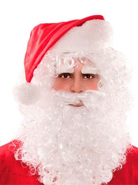 Peluca Papá Noel con Barba, Bigote y Cejas