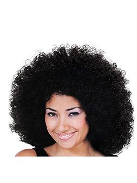 Peluca Rizos Afro Negra