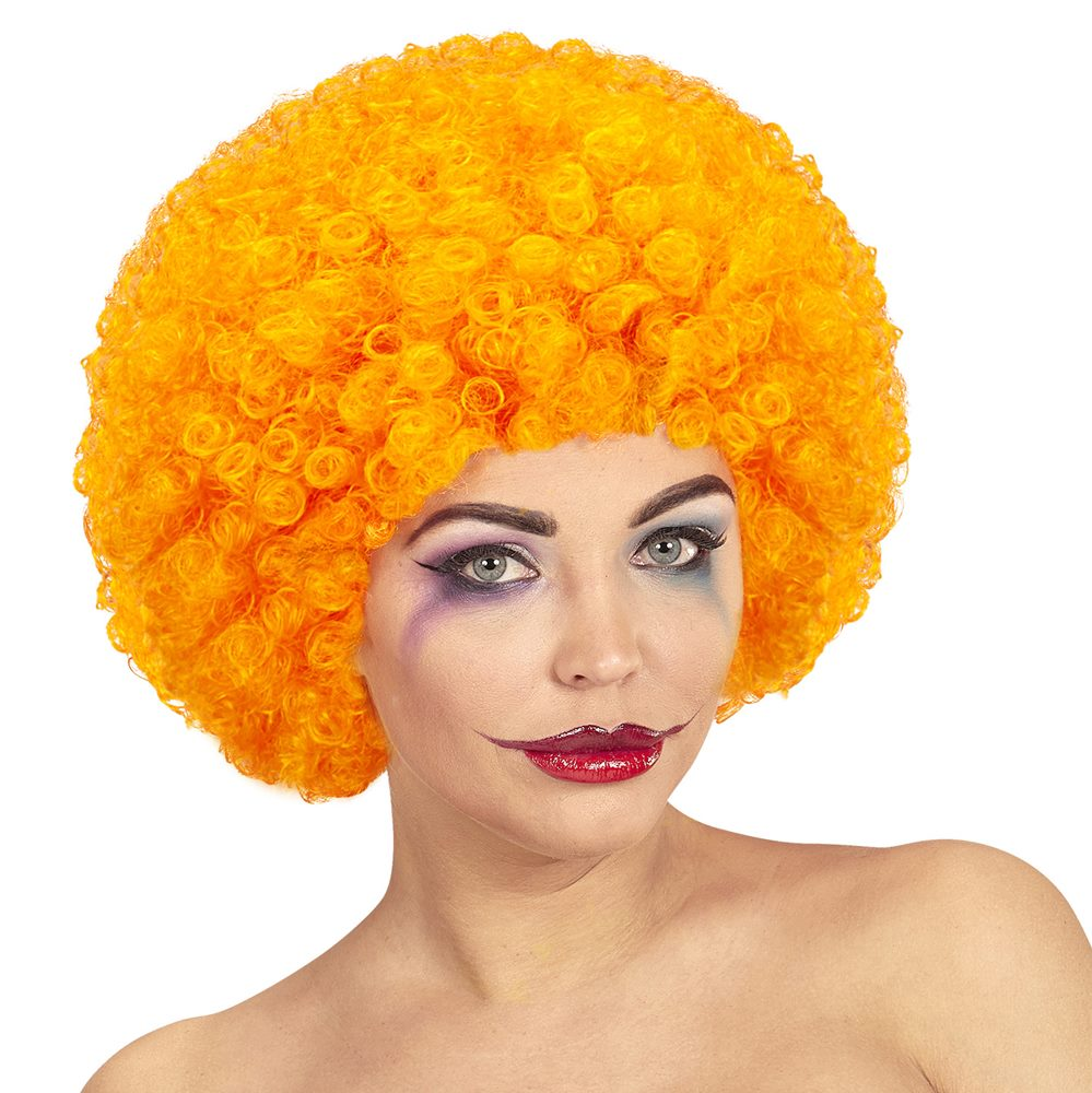 Peluca Rizada Naranja
