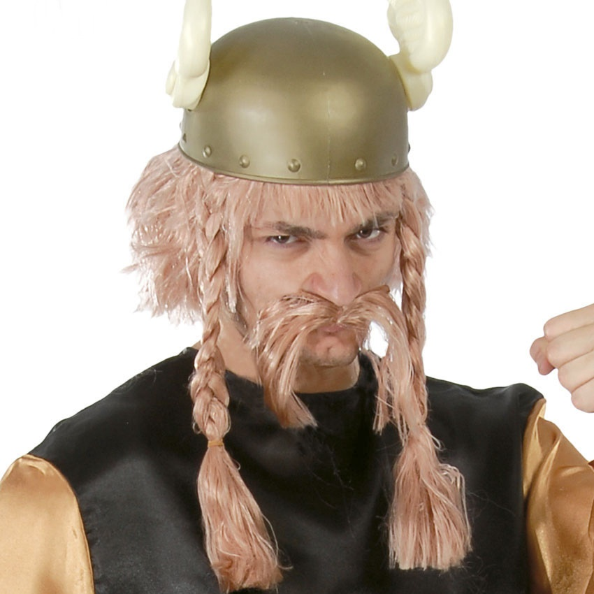 Peluca Vikinga con Bigote