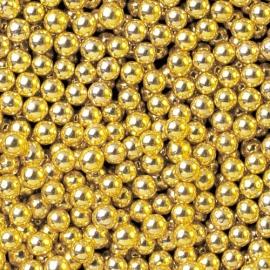 Perlas de Azúcar Doradas Metalizadas 8 mm