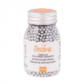 Perlas de Azúcar Plateadas 4mm - Miles de Fiestas