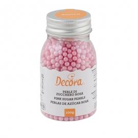 Perlas de Azúcar Rosa Nacarado 4 mm - Miles de Fiestas